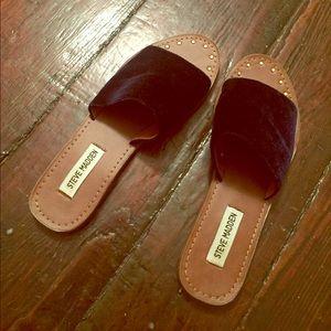 Steve Madden   Navy Velvet Sandals